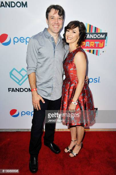 Brandon Jones and Amanda Troop arrives at FANDOM's Annual ComicCon KickOff Party at Float at Hard Rock Hotel San Diego on July 20 2017 in San Diego...