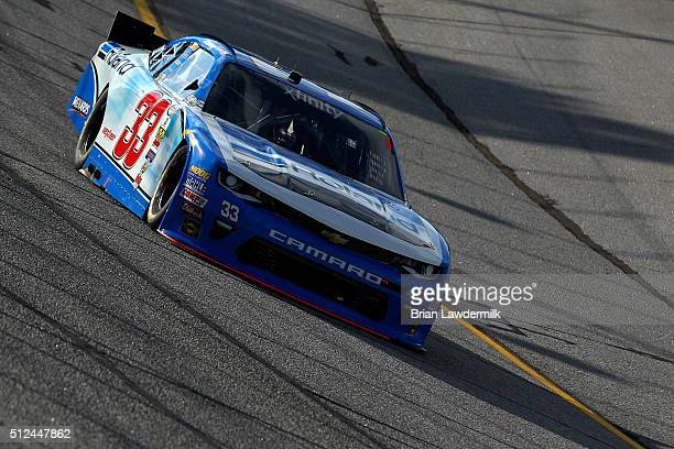 Brandon Jones driver of the Roland Chevrolet practices for the NASCAR XFINITY Series Heads Up Georgia 250 at Atlanta Motor Speedway on February 26...