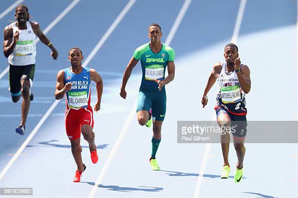 Brandon Jones of Belize Stanly del Carmen of the Dominican Republic Aldemir Da Silva Junior of Brazil and Nethaneel MitchellBlake of Great Britain...
