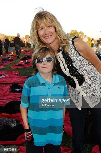 Brandon Joseph and Laura Dern attend Eddie Vedder and Zach Galifianakis Rock Malibu Fundraiser for EBMRF and Heal EB on September 15 2013 in Malibu...