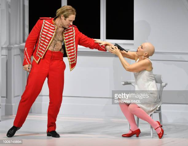 89522b4d Brandon Jovanovich and Hanna Schwarz perform during a dress rehearsal of  the opera Pique Dame at