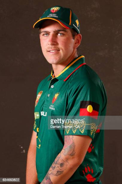 Brandon King of Tasmania poses for a head shot during the National Indigenous Cricket Championships on February 11 2017 in Alice Springs Australia