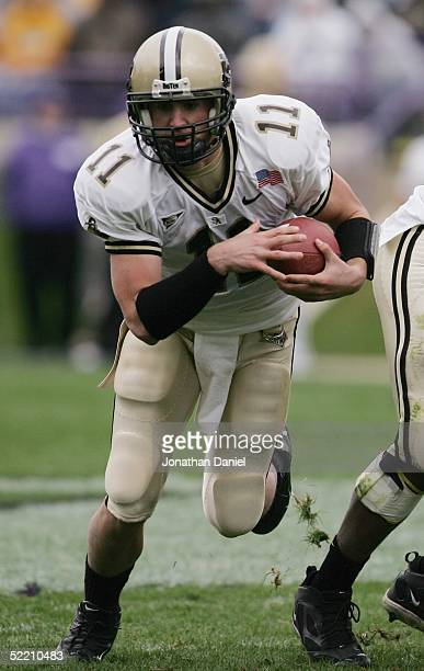 Brandon Kirsch of the Purdue Boilermakers runs the ball during the game against the Northwestern Wildcats on October 30 2004 at Ryan Field at...