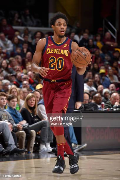 Brandon Knight of the Cleveland Cavaliers handles the ball against the Orlando Magic on March 3 2019 at Quicken Loans Arena in Cleveland Ohio NOTE TO...