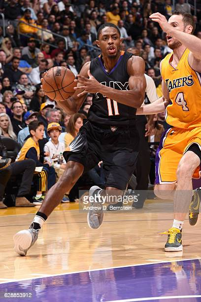 Brandon Knight of the Phoenix Suns drives to the basket against the Los Angeles Lakers on December 9 2016 at STAPLES Center in Los Angeles California...