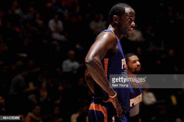 Brandon Knight of the Phoenix Suns during the game against the Denver Nuggets on February 25 2015 at the Pepsi Center in Denver Colorado NOTE TO USER...