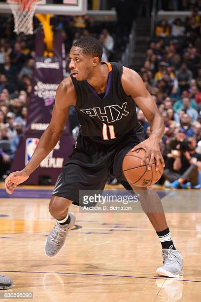 Brandon Knight of the Phoenix Suns handles the ball during the game against the Los Angeles Lakers on December 9 2016 at STAPLES Center in Los...