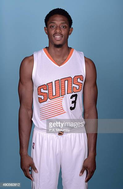Brandon Knight of the Phoenix Suns poses for a portrait on Media Day on September 28 2015 at the Talking Stick Resort Arena in Phoenix Arizona NOTE...