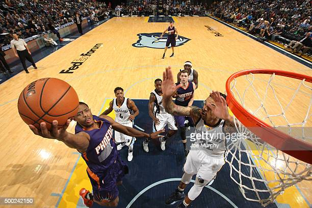 Brandon Knight of the Phoenix Suns shoots the ball during the game against the Memphis Grizzlies on December 6 2015 at FedExForum in Memphis...