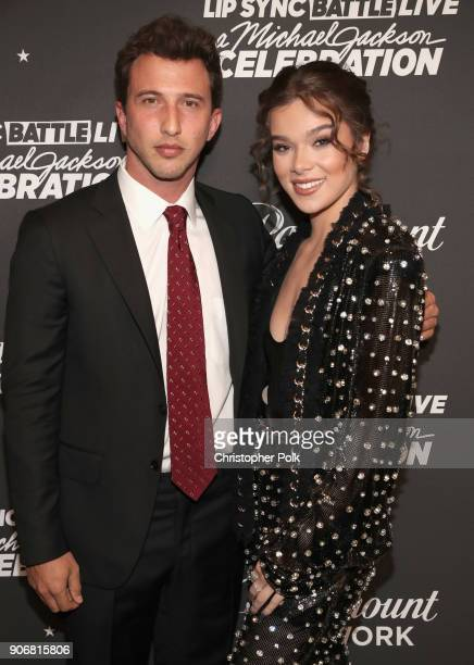 Brandon Korff and Hailee Steinfeld attend Lip Sync Battle Live A Michael Jackson Celebration at Dolby Theatre on January 18 2018 in Hollywood...