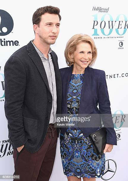 Brandon Korff and honoree Shari Redstone attend The Hollywood Reporter's Annual Women in Entertainment Breakfast in Los Angeles at Milk Studios on...