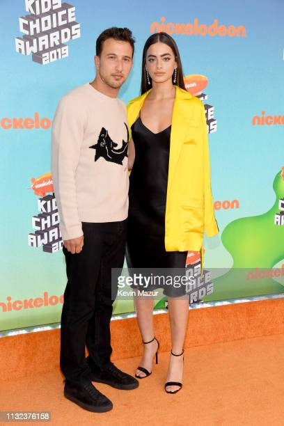 Brandon Korff and Yael Shelbia attend Nickelodeon's 2019 Kids' Choice Awards at Galen Center on March 23 2019 in Los Angeles California