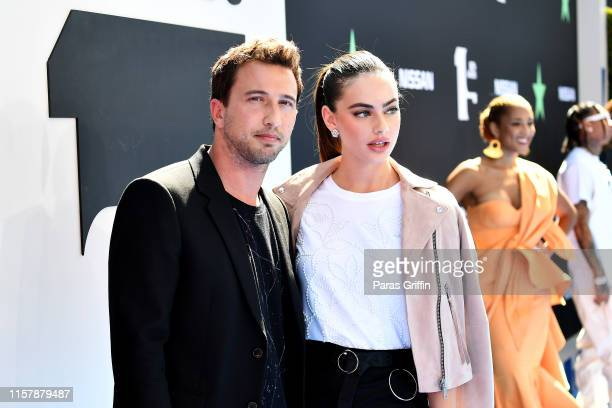 Brandon Korff and Yael Shelbia attend the 2019 BET Awards at Microsoft Theater on June 23 2019 in Los Angeles California