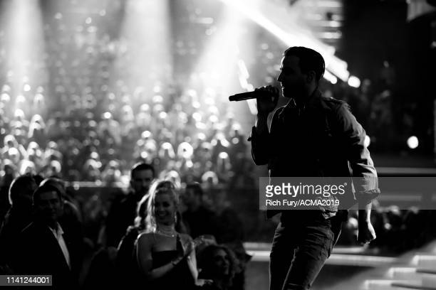 Brandon Lancaster of Lanco performs onstage during the 54th Academy Of Country Music Awards at MGM Grand Garden Arena on April 07 2019 in Las Vegas...