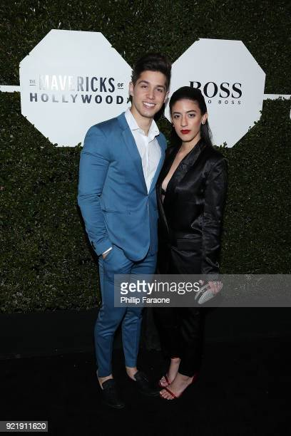 Brandon Larracuente and Jazmin Garcia attend Esquire's Annual Maverick's of Hollywood at Sunset Tower on February 20 2018 in Los Angeles California