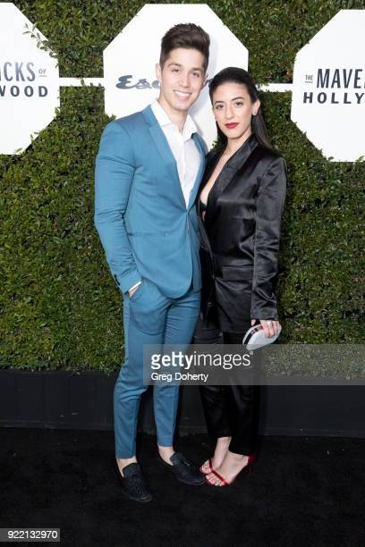 Brandon Larracuente and Jazmin Garcia attend Esquire's Annual Maverick's Of Hollywood on February 20 2018 in Los Angeles California