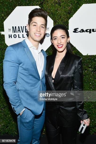 Brandon Larracuente and Jazmin Garcia attend Esquire's 'Mavericks of Hollywood' Celebration presented by Hugo Boss on February 20 2018 in Los Angeles...