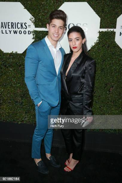 Brandon Larracuente and Jazmin Garcia attend the Esquire's Annual Maverick's of Hollywood at Sunset Tower on February 20 2018 in Los Angeles...