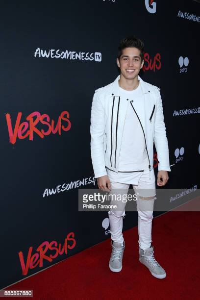 Brandon Larracuente attends AwesomenessTV's 'Versus' event in partnership with Gatorade at Awesomeness HQ on December 4 2017 in Santa Monica...