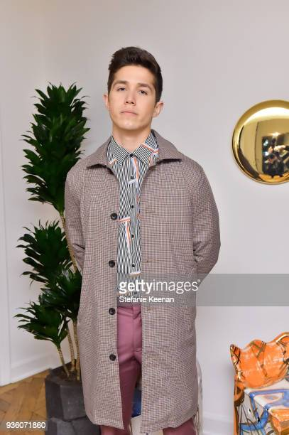 Brandon Larracuente attends FENDI x Flaunt Celebrate The New Fantasy Issue at Casa Perfect on March 21 2018 in Beverly Hills California