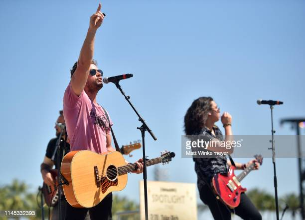 Brandon Lay performs onstage during the 2019 Stagecoach Festival at Empire Polo Field on April 26 2019 in Indio California