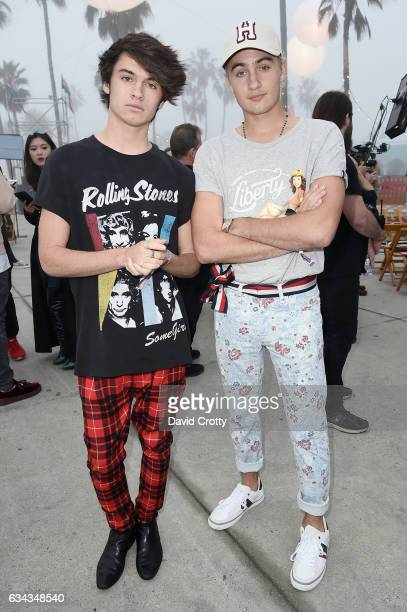 Brandon Lee and Dylan Lee attend the Tommy Hilfiger Spring 2017 Women's Runway Show Front Row at Windward Plaza on February 8 2017 in Venice...