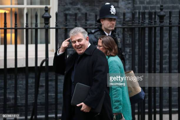 Brandon Lewis chairman of the Conservative Party arrives for a weekly meeting of cabinet ministers at number 10 Downing Street in London UK on...