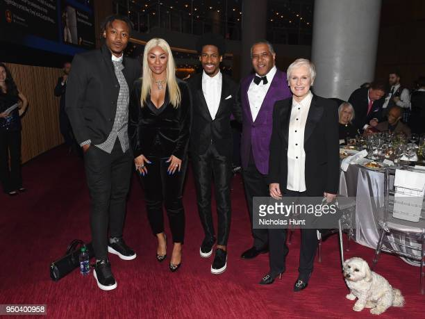 Brandon Marshall Michi Nogami Jon Batiste guest and Glenn Close attend Jazz At Lincoln Center's 30th Anniversary Gala at Jazz at Lincoln Center on...
