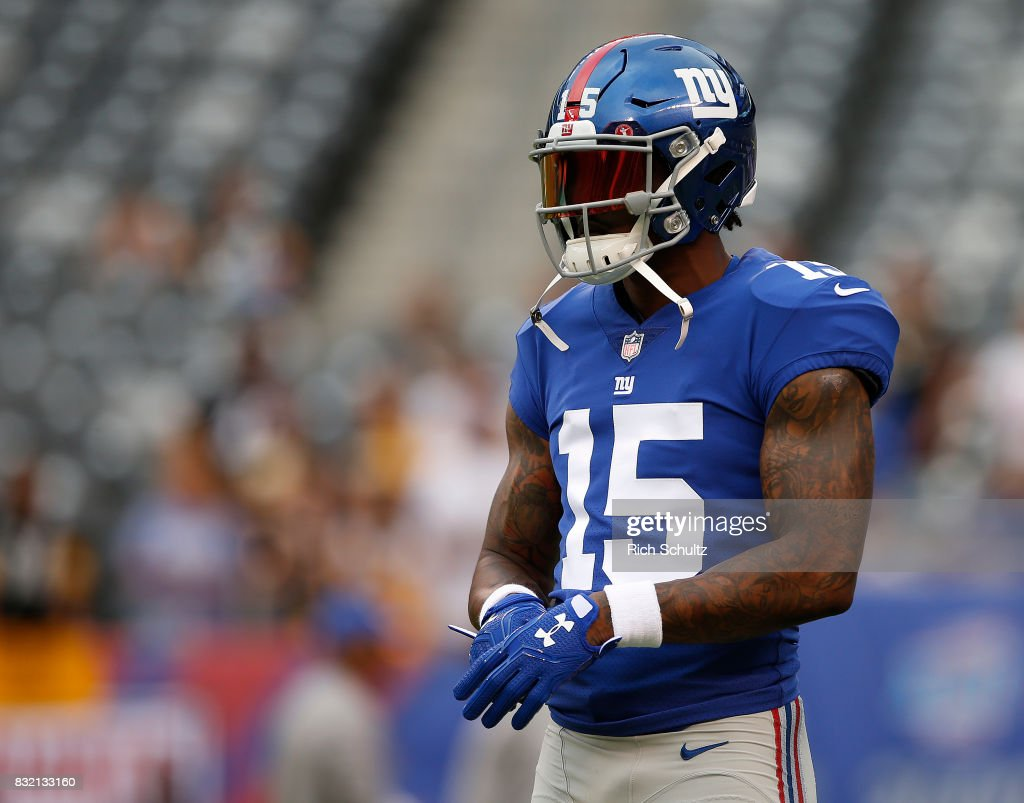 free shipping b2aae 06d40 Brandon Marshall of the New York Giants during warm ups ...