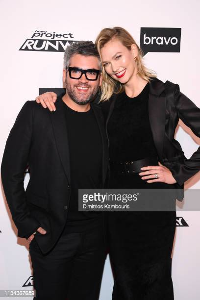 "Brandon Maxwell and Karlie Kloss attend Bravo's ""Project Runway"" New York Premiere at Vandal on March 07, 2019 in New York City."