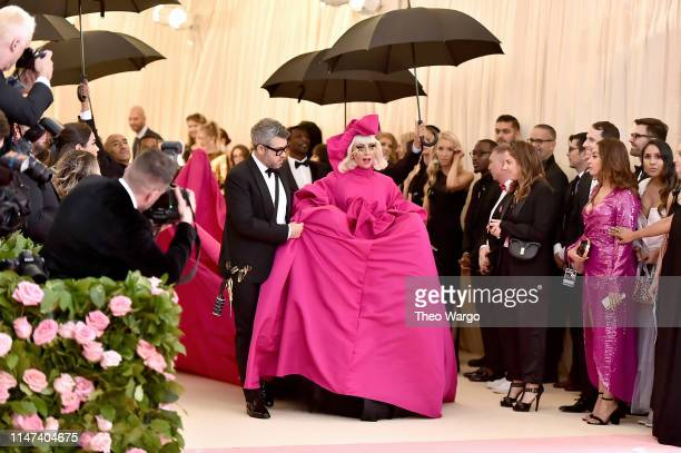 Brandon Maxwell and Lady Gaga attend The 2019 Met Gala Celebrating Camp Notes on Fashion at Metropolitan Museum of Art on May 06 2019 in New York City
