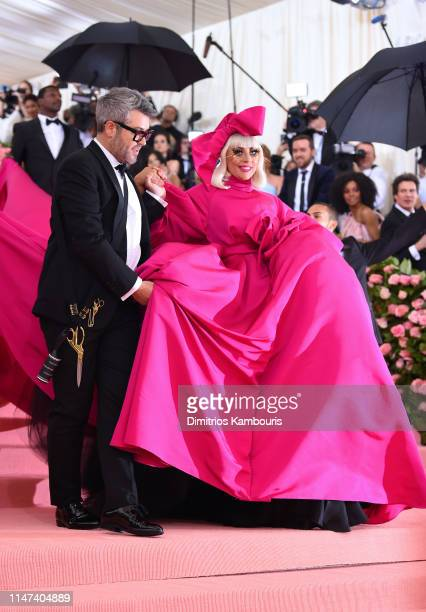 Brandon Maxwell and Lady Gaga attends The 2019 Met Gala Celebrating Camp Notes on Fashion at Metropolitan Museum of Art on May 06 2019 in New York...