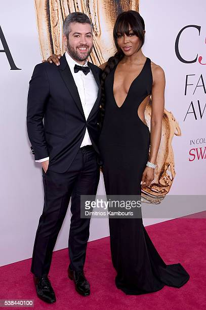 Brandon Maxwell and Naomi Campbell attend the 2016 CFDA Fashion Awards at the Hammerstein Ballroom on June 6 2016 in New York City