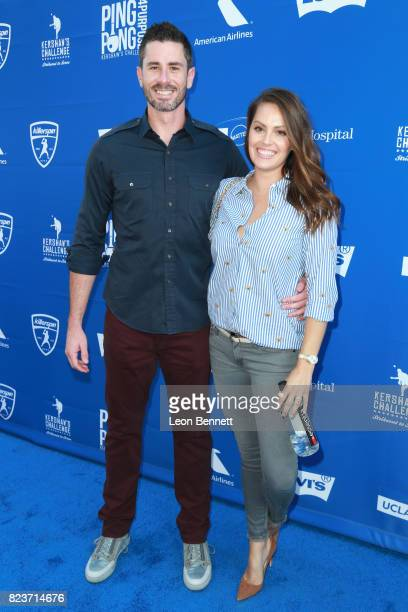 Brandon McCarthy and Amanda McCarthy at Clayton Kershaw's 5th Annual Ping Pong 4 Purpose Celebrity Tournament at Dodger Stadium on July 27 2017 in...