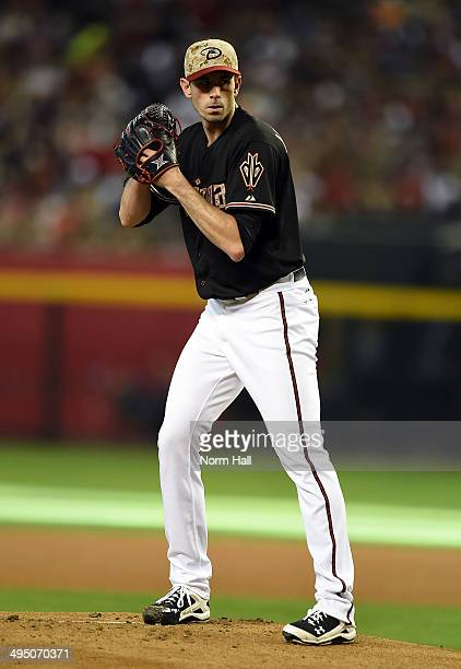 Brandon McCarthy of the Arizona Diamondbacks delivers a pitch against the San Diego Padres at Chase Field on May 26 2014 in Phoenix Arizona