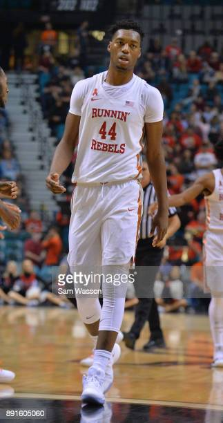 Brandon McCoy of the UNLV Rebels stands on the court during their game against the Illinois Fighting Illini at the MGM Grand Garden Arena on December...