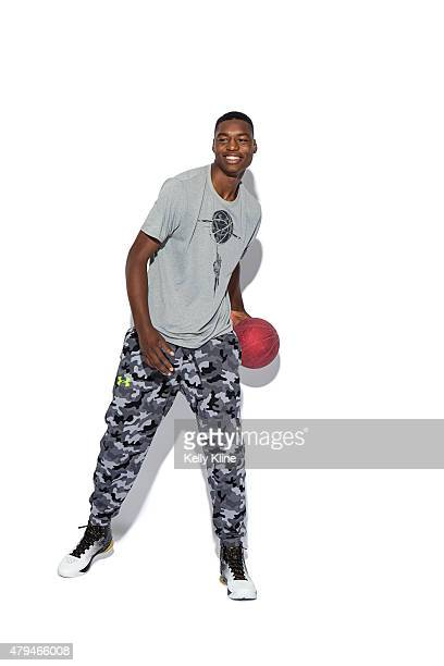 Brandon McCoy poses for a portrait during the NBPA Top 100 Camp on June 19 2015 at John Paul Jones Arena in Charlottesville Virginia