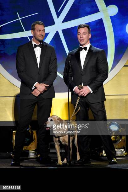 Brandon McMillan and Chris Van Etten speak onstage during the 45th annual Daytime Emmy Awards at Pasadena Civic Auditorium on April 29 2018 in...