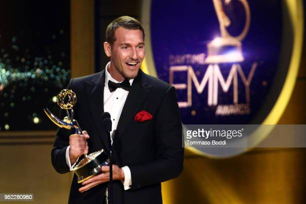 Brandon McMillan on stage during the 45th Annual Daytime Creative Arts Emmy Awards at Pasadena Civic Auditorium on April 27 2018 in Pasadena...