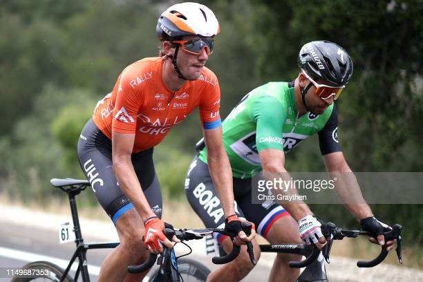 Brandon Mcnulty of The United States and Team Rally UHC Cycling / Peter Sagan of Slovakia and Team Bora-Hansgrohe / during the 14th Amgen Tour of...