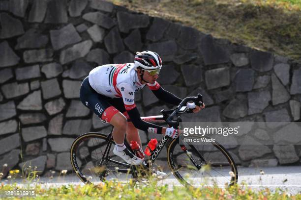 Brandon Mcnulty of The United States and UAE Team Emirates / during the 103rd Giro d'Italia 2020, Stage 18 a 207km stage from Pinzolo to Laghi di...