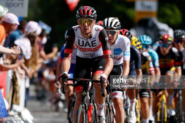 Brandon Mcnulty of The United States and UAE-Team Emirates during the 108th Tour de France 2021, Stage 2 a 183,5km stage from Perros-Guirec to...