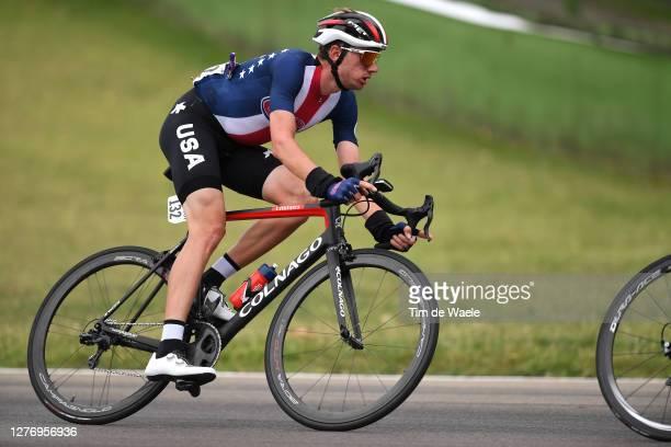 Brandon Mcnulty of The United States / Autodromo Enzo e Dino Ferrari / during the 93rd UCI Road World Championships 2020, Men Elite Road Race a...