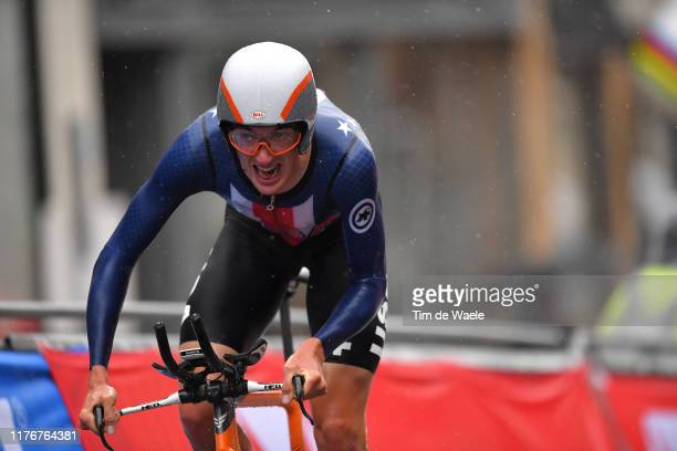 Brandon Mcnulty of The United States / Rain / during the 92nd UCI Road World Championships 2019, Men U23 Individual Time Trial a 32km Individual Time...