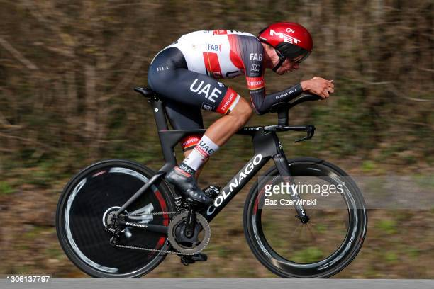 Brandon Mcnulty of United States and UAE Team Emirates during the 79th Paris - Nice 2021, Stage 3 a 14,4km Individual Time Trial stage from Gien to...