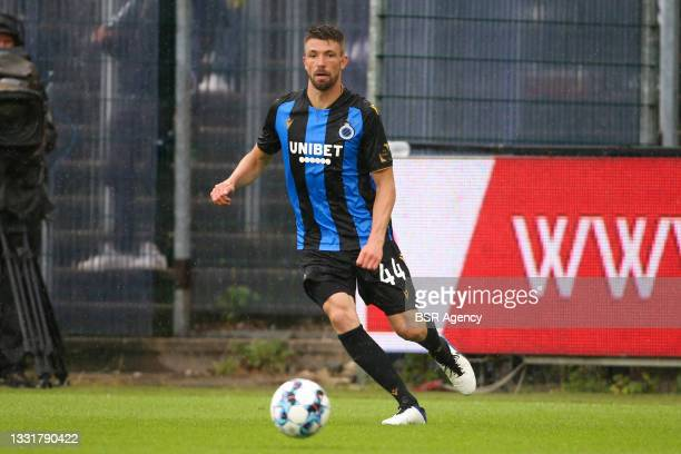 Brandon Mechele of Club Brugge during the Jupiler Pro League match between Union Saint Gilloise and Club Brugge at Joseph Marien Stadion on August 1,...