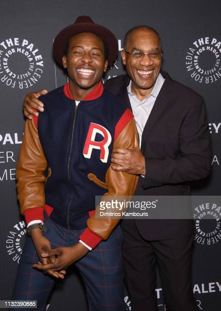 Brandon Michael Hall and Joe Morton attend the God Friended Me Screening Discussion at The Paley Center for Media on February 26 2019 in New York City