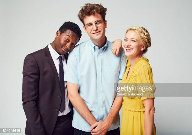 Brandon Michael Hall John Reynolds and Meredith Hagner of Turner Networks 'TBS/Search Party' pose for a portrait during the 2017 Summer Television...