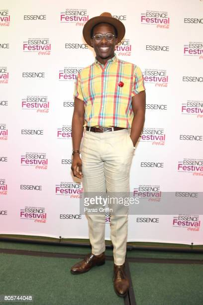 Brandon Micheal Hall poses in the press room at the 2017 ESSENCE Festival presented by CocaCola at Ernest N Morial Convention Center on July 2 2017...
