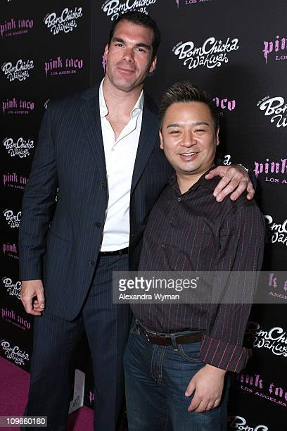 Brandon Molale and Rex Lee during Grand Opening Party for Harry Morton's Pink Taco in Century City at Westfield Century City Mall in Century City,...